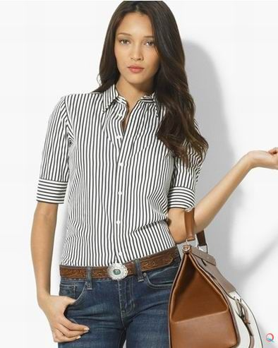 Polo_Ralph_Lauren_Women_Shirts_Super_Slim_Black